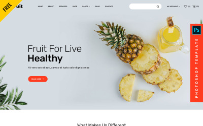 Joefruit - 免费电子商务 Photoshop Web PSD 模板