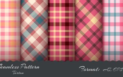 Naadloze tartanpatroon, patroonafbeeldingen instellen