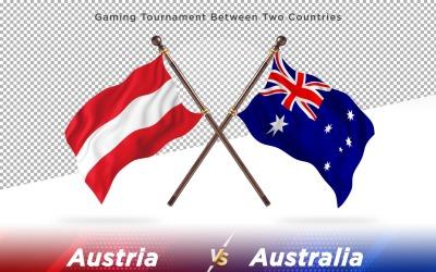Австрія проти Австралії Два прапори