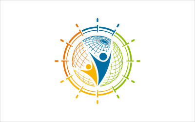 Plantilla de vector de educación infantil mundial