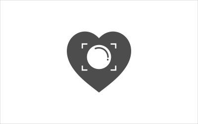 Plantilla de vector de fotografía de amor