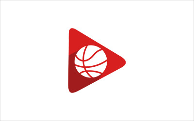 Plantilla de símbolo de logotipo de vector de video de juego de baloncesto