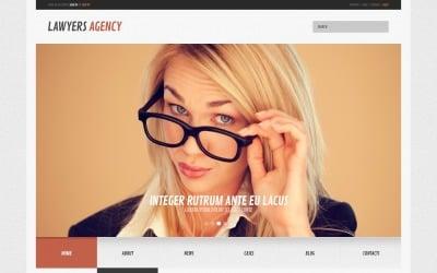 Бесплатная адаптивная верстка WordPress для юридической фирмы и шаблон веб-сайта