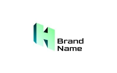 Буква H розмір градієнта логотип