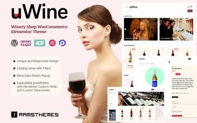 UWINE - Pincészet WooCommerce téma