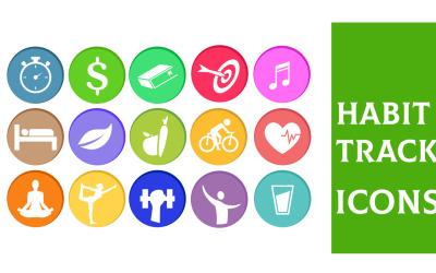 Habit Tracker Icons Template
