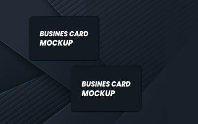 Black Business Card Mockup Template