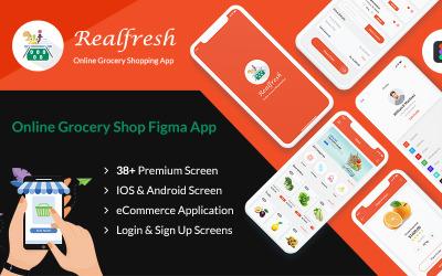 Realfresh - mobilní aplikace Obchod s potravinami Figma