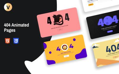 Vemo - 404 Responsiv animerad specialsida