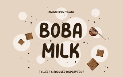 Boba Milk - Sweet & Rounded
