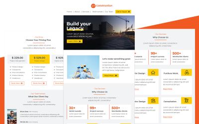 Будівництво - Шаблон електронної пошти для багатофункціональної студії будівництва та архітекторів Адаптивний
