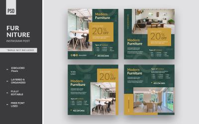 Modern Furniture Instagram Design Post And Social Media Ads Banner