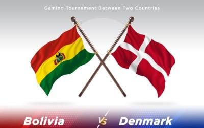 Bolivien gegen Dänemark Two Flags