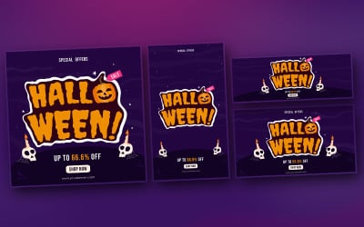 Halloween - Banner Template for promotion on Youtube and Social Media