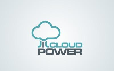 Szablon projektu logo firmy Cloud Power