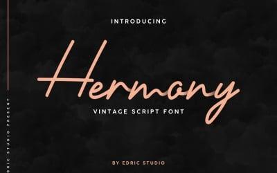 Hermony Signature Script Font
