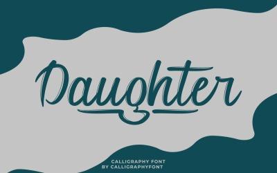 Lány kalligráfia ecset betűtípus