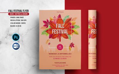 Šablona firemní identity pro podzimní večírek