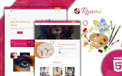 Roumi Creative 响应式 HTML5 网站模板