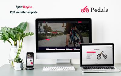 踏板 - 运动自行车PSD网站模板