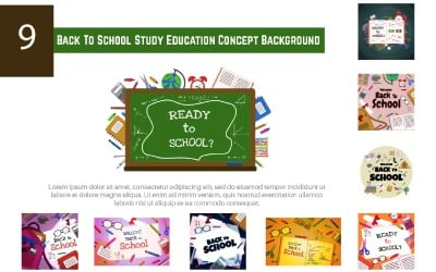 9 Back To School Study Education Concept Background
