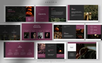 Geotrix - Szőlőlé modern vállalati profil bemutatója