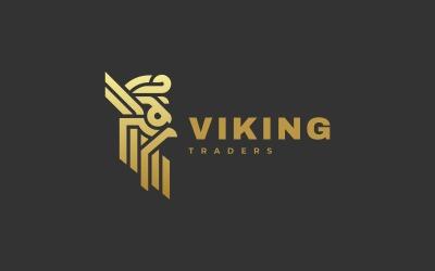 维京线条艺术标志样式