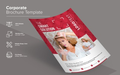 Šablona návrhu kreativní brožury Faison