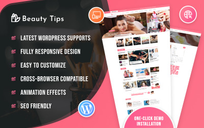 Blog de conseils de beauté Thème WordPress