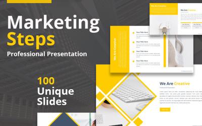 Kroki marketingowe Szablon PowerPoint