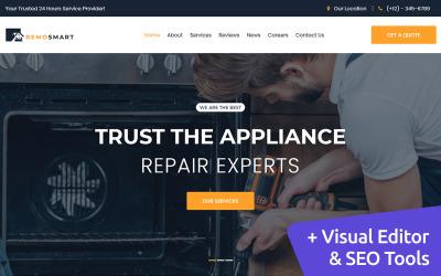 Otthoni szolgáltatások MotoCMS weboldal tervezés