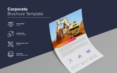stavební společnost Šablona návrhu brožury