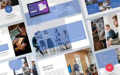 Digima - Шаблон презентації PowerPoint у сфері цифрового маркетингу