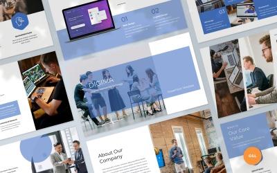 Digima - Szablon prezentacji Google Slides Marketing cyfrowy