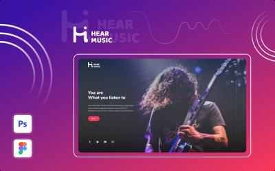 Hear Music — Éléments d'interface utilisateur polyvalents et élégants de Music Company