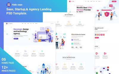 HeleSaas - Modello PSD creativo, Saas, di avvio e di agenzia