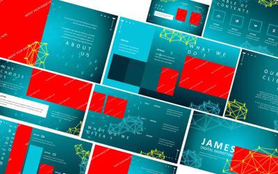James Digital Marketing Powerpoint-Vorlage