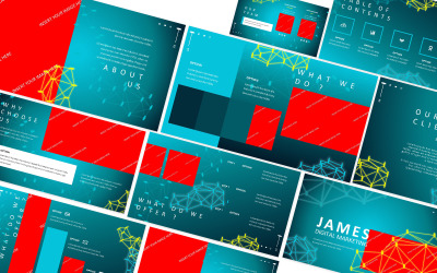James Ditigal Marketing Powerpoint Template