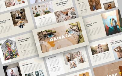 Ramata - modelo de PowerPoint de negócios criativos
