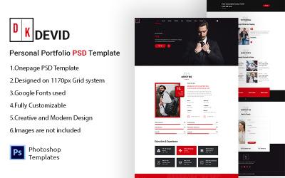 Devid - PSD-sjabloon voor persoonlijke portfolio