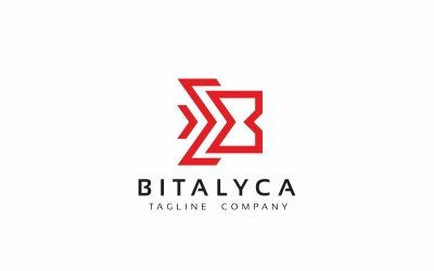 Шаблон логотипа письмо Bitalyca B