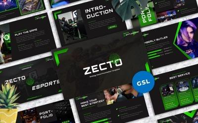 Zecto - Googleslide de juegos de deportes electrónicos