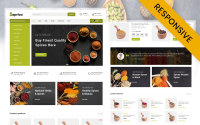 Адаптивна тема WooCommerce магазину пряних продуктів Paprica