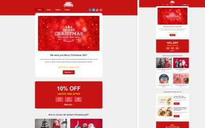 Modèles d'e-mails de Noël   Modèle d'e-mail HTML réactif de Noël  Bulletin de Noël