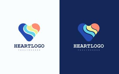 Concept de conception de vecteur de logo de coeur gratuit