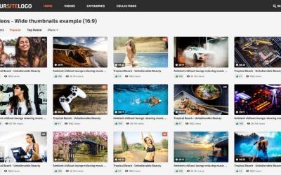 Шаблон веб -сайту для відео 6 - 10 колірних схем