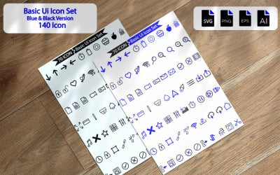 140 Premium Basic Ui Icon Pack