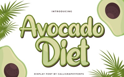 Avocado Diet Sans Serif-lettertype