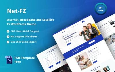 Netfz - internetleverantör, bredband och satellit -TV -responsivt WordPress -tema