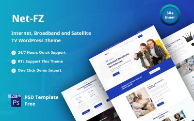 Netfz - motyw WordPress obsługujący łącze internetowe, szerokopasmowe i telewizję satelitarną
